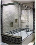 Newly designed contoured sliding shower door systems