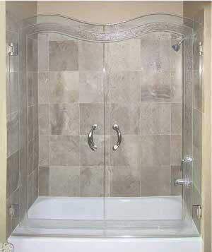 Custom Glue Chip Shower and Shower Door Systems